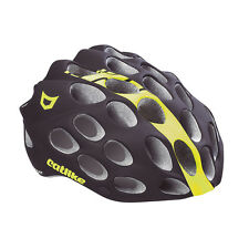 Catlike Whisper Road Helmet Cycling Dual Flow Air Venting Black/Yellow Fluo