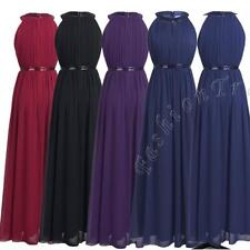 Women Long Dress Chiffon Evening Cocktail Party Formal Bridesmaid Prom Ball Gown