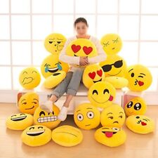 "8 Styles 12"" Emoji Emoticon Round Cushion Poo Stuffed Soft Pillow Plush Gift Toy"
