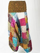 Patchwork Harem Trousers Recycled Sari & Silk Hippy Festival Boho Ali Baba Pants