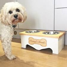 Handmade Dog Bowl Stand-Farmhouse furniture-Wooden dog bowl-Personalised