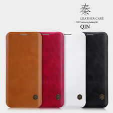 NILLKIN Qin Series Leather Flip Case with Card Slot for Samsung Galaxy S8 Plus +