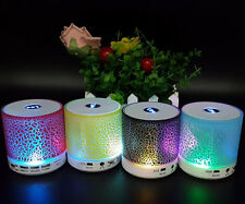 LED Light Bluetooth Wireless Mini Portable Speaker Bass For MP3 iPhone iPad PC