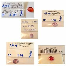 5 pieces of natural loose sapphires wholesale lot
