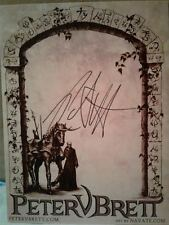 Peter V Brett Authentic Hand Signed Bookplate , Scull Throne,The Demon Cycle