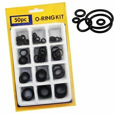 O RING 50 Pc Assorted Rubber O Ring Seals Plumbing Tap Washer Kit Pack SOLD