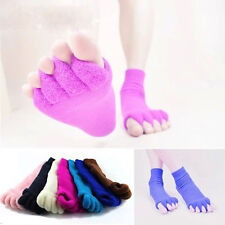 Soft Five Toe Separator Yoga Gym Massage Foot Socks Alignment Foot Pain Relief