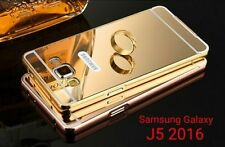 Luxury Aluminum Frame Acrylic Mirror Back Cover For Samsung New J5 (2016 )