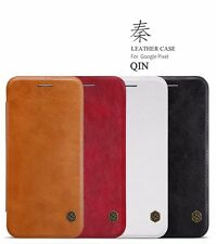 100% Nillkin QIN Series Luxury PU Leather Flip Case Cover For Google Pixel