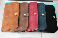 """Luxury Flip Flap PU Leather Carry Case Cover Wallet Pouch for iPhone (4.7"""")"""