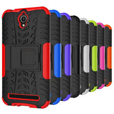 Heartly Tough Flip Kick Stand Spider Armor Back Case Cover - Asus Zenfone Go 4.5