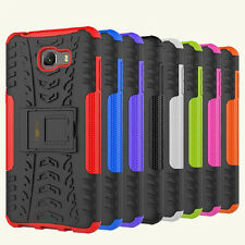 Heartly Tough Flip Kick Stand Armor Back Case Cover For Samsung Galaxy C9 Pro