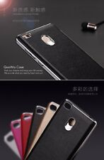 Luxury Chrome Leather Case Ultra Thin Back Cover Case For Xiaomi Redmi 3S Prime