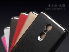 Luxury Chrome Leather Case Ultra Thin Back Cover Case For Xiaomi Redmi Note 3
