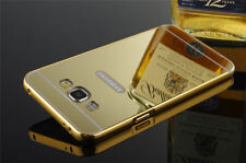 Luxury Aluminum Frame Acrylic Mirror Back Cover Bumper For Samsung Galaxy J5