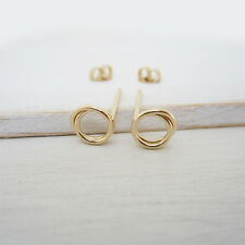 Open Circle Coil Stud Earrings in Gold Filled - Handmade Women's Jewelry