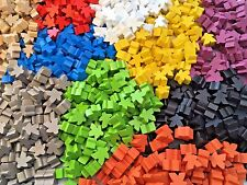 Wooden Meeples / Carcassonne Spares - Pack of 8 avail in 10 colours - UK SELLER!