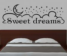 frase Sweet Dreams Pared Cuarto Dormitorio Adhesivo de pared 1d144