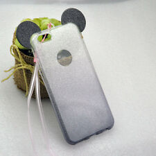 3D Mickey Mouse Ear Case Gradual Change Skin Soft TPU Cover for iPhone, Samsung