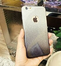 Gradient Glitter Transparent Soft Silicon Back Case Cover For iPhone, Samsung