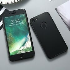 Full Body 360 Soft Silicone Front Back Matte Finish Case for iPhone 7 and 7 Plus
