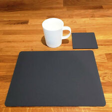 Rectangulaire Set de table et carré Ensemble De Dessous De Verre - Gris Graphite