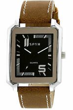 SPYN Analogue Square Leather Belt watches for men.Watches