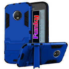 Shockproof Quality Dual Layer Fusion Tough Armour Phone Case Cover+Kick Stand
