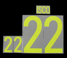 """ISCO 22 "" Spain Home Football Adult Name & Number Set 2015/16 Print"