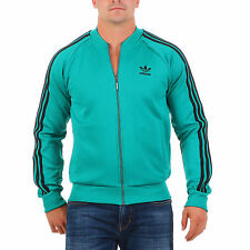 Adidas Herren Trainingsjacke Superstar Originals Jacke Grün AJ7001 Fitness Neu