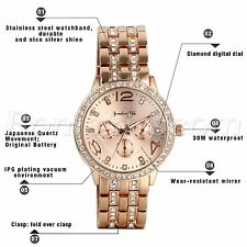 2017 Luxury Women's Men Fashion Watch Stainless Steel Band Quartz Wrist Watches