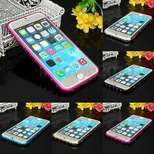 Apple iPhone 6/6S Luxury Metal Bling Rhinestone Diamond Bumper Case