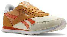 Womens Reebok Royal CL Jog 2HS Sport Shoes Cream Orange Running Ladies Trainers