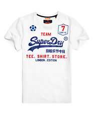 SUPERDRY Classic Limited Edition Football T-shirt (Referee Optic/Blue/Red)