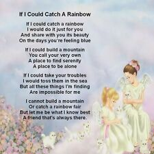 """Personalised Coaster """"If I Could Catch a Rainbow"""" Poem +Gift Box -Various design"""