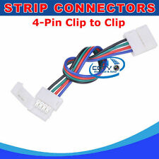 4-Pin Solder-less Clip to Clip Connector For 5050 3528 RGB LED Light Strip