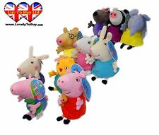 Adorable Original Peppa Pig Family & Friends Plush Toys, 10 Different Characters