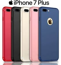 iPhone 7 PLUS Ultra Slim TPU Shock Absorption With Dust Plug Back Case Cover