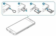Sim Card Slot Tray Holder Replacement Part For Samsung GALAXY S6,S7,NOTE 5,A8,E5