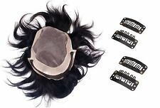 Kabello hair Patch Human hair wig For men easily attached with Glue / Clips