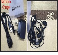 MICROMAX CHARGER ADAPTER &MICROMAX HANDSFREE-EARPHONE COMPATIBLE MICROMAX MOBILE