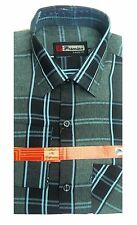 Gents / Mens Quality Formal Shirt (Pink and Black Checked) 68