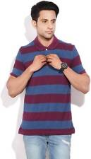 Arrow Sports Striped Mens Polo Neck T-Shirt-5441-J0I