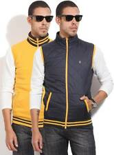 Pepe Jeans Sleeveless Self Design Mens Quilted Jacket-5441-IWV