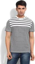 Kenneth Cole Striped Mens Round Neck T-Shirt-5441-IVK