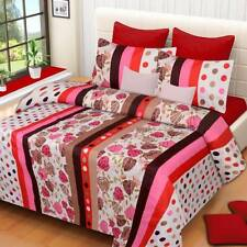 IWS Polyester 3D Printed Double Bedsheet(1 Double Bedsheet,2 Pillow Covers)- IEF