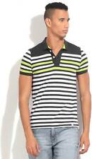 United Colors of Benetton Striped Mens Polo Neck T_Shirt-5441-HVN
