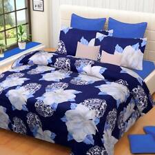 IWS Polyester 3D Printed Double Bedsheet(1 Double Bedsheet,2 Pillow Covers)- I72