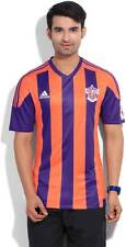Adidas Striped Mens V-neck Orange, Purple T-Shirt-9A9