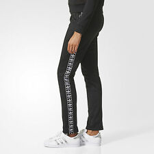 ADIDAS ORIGINALS FIREBIRD TRACK PANTS Nero PANTALONE TUTA BJ8336 DONNA